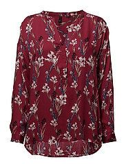 Noga L/S Blouse - CHERRY ROSE COMB