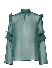 Kaya L/S Blouse - AMAZON GREEN