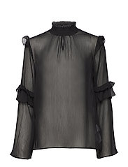 Kaya L/S Blouse - BLACK