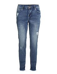 Zenia Midwaist Ankle Length Skinny - MEDIUM BLUE DENIM
