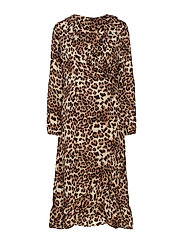Cairo l/S dress - CHOCOLATE BROWN