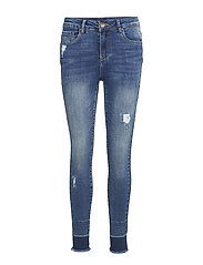 Zenia Highwaist Ankle Length Skinny - MEDIUM BLUE DENIM