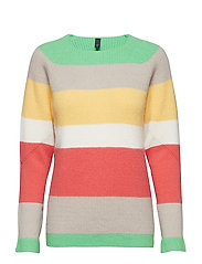 Becca Stripe Pullover - LEAF GREEN
