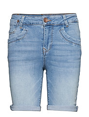 PzTenna Highwaist Shorts - LIGHT BLUE DENIM