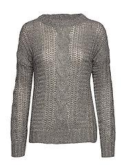 PZCOMO L/S Pullover - LIGHT GREY MELANGE