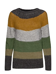PZGISELLE Striped Pullover - CROCODILE GREEN