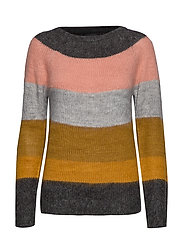 PZGISELLE Striped Pullover - TAPENADE