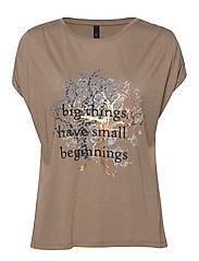 PZHOPE S/S T-shirt - GREIGE