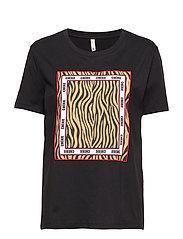 PZZEBRA T-shirt - BLACK
