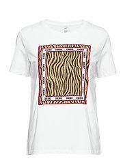 PZZEBRA T-shirt - OPTICAL WHITE
