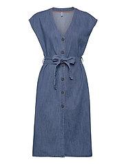 PZTINKA Dress - MEDIUM BLUE DENIM