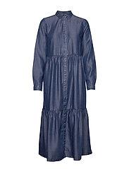 PZSNAKE Dress - MEDIUM BLUE DENIM