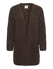PZRAINBOW Cardigan Premium Quality - CHOCOLATE BROWN MELANGE