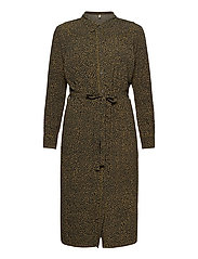PZMYLA Dress - STONE GRAY ALL OVER PRINT
