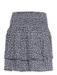 PZBENEDIKTE Skirt - DARK SAPPHIRE FLOWER PRINTED