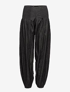 Jill wide denim pant - casual bukser - black solid