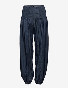 Jill wide denim pant - DARK BLUE DENIM