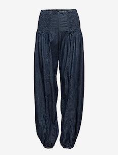 Jill wide denim pant - casual bukser - dark blue denim