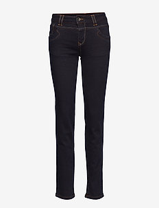 Tenna Highwaist Straight - straight jeans - raw blue denim