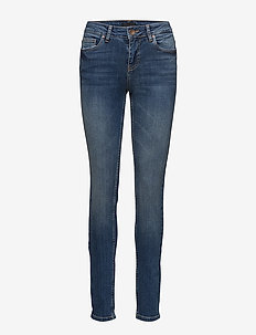 Mia Highwaist Skinny - MEDIUM BLUE DENIM