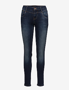 Carmen Highwaist skinny - MEDIUM BLUE DENIM
