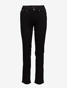 Karolina Highwaist Straight - BLACK DENIM