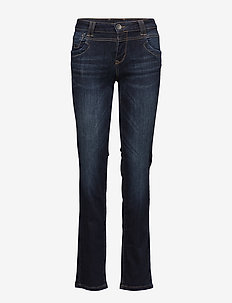 Tenna Highwaist Straight - MEDIUM BLUE DENIM