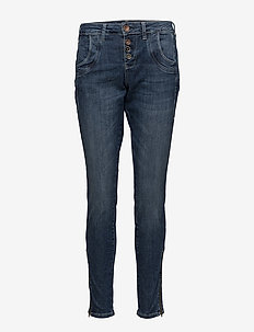 Melina Loose Jeans - MEDIUM BLUE DENIM