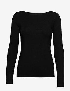 PZSARA Boatneck Pullover - BLACK