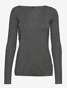 PZSARA Boatneck Pullover - MEDIUM GREY MELANGE