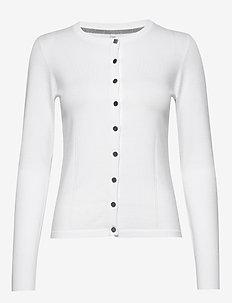 PZSARA L/S Cardigan - koftor - bright white