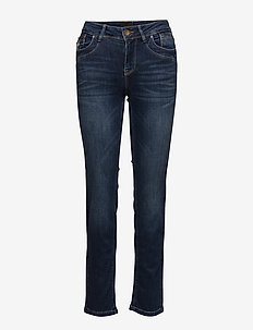 Karolina Highwaist Straight - MEDIUM BLUE DENIM