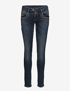 Anett Midwaist Skinny - DARK BLUE DENIM
