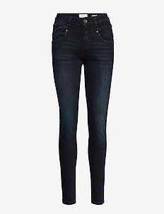 Carmen Highwaist skinny - dark blue denim