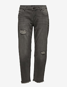 Katia Regular Straight Ankle Lenght - BLACK DENIM