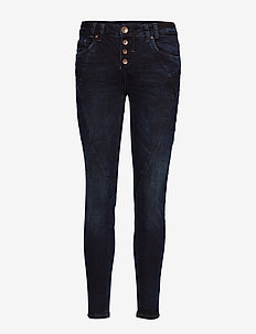 Rosita Reg. Waist Ankle - DARK BLUE DENIM