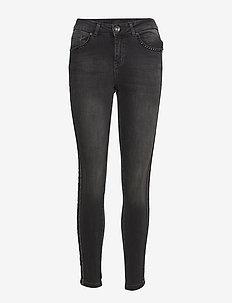Belinda Highwaist Skinny Ankle Leng - skinny jeans - black denim
