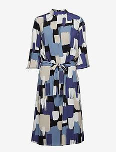 Alberte 3/4 Sl. Dress - STEEL BLUE