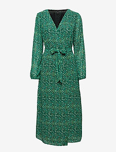 Henrietta L/S Dress - LEAF GREEN