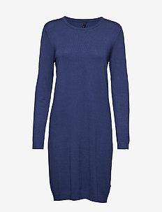 Sara L/S Dress - TWILIGHT BLUE