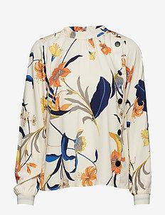 PzSigne L/S Shirt AOP - CHAMPAGNE