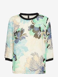 PzCherry 1/2 sl blouse - CHAMPAGNE