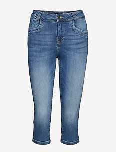 PzTenna Highwaist Capri - skinny jeans - medium blue denim
