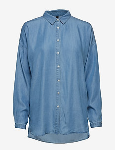 PXTIFFANNY L/S Shirt - BRIGHT BLUE DENIM
