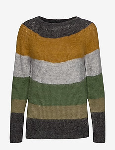 PZGISELLE Striped Pullover - CROCODILE GREEN