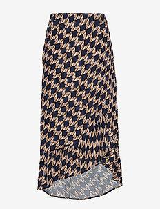 PZGENEVIEVE Skirt - midi kjolar - blue marine