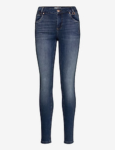 PZEMMA Highwaist Skinny - skinny jeans - medium blue denim
