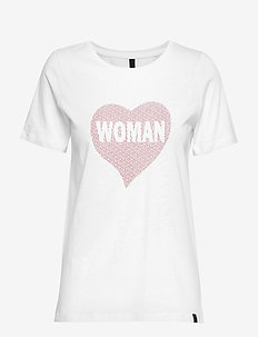 PZWOMAN S/S T-shirt - t-shirts med tryck - optical white
