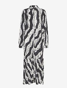 PZSNAKE L/S Dress - JET BLACK
