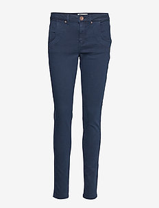 PZMELINA Loose Pants - BLUE MARINE